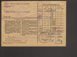 Bizone Postsache Vom Postamt Königslutter Elm, Fernsprechrechnung Von 1948 - Zone Anglo-Américaine