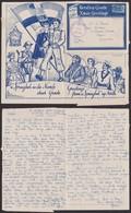 Afrique Du Sud 1943 - Lettre Air Mail Publicitaire Noêl - Guerre 40-45- Thématique Militaire (3G23468) DC0042 - Stamps