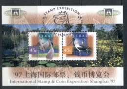 Australia 1997 Wetlands Birds Shanghai MS FU - Usati