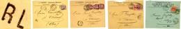 TARIF FRONTALIER LOT DE 4 ENV SUISSE 1897/9 GENEVE TARIF RL RAYON LIMITROPHE A 15C 1ER ECHELON => CHEZERY AIN FRANCE - Postmark Collection (Covers)