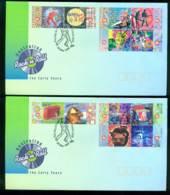 Australia 1998 Rock & Roll, Sunbury 2x FDC Lot28033 - 1990-99 Elizabeth II