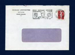 Francia - Sobre Circulado  (año 1990) - Marcofilia (sobres)