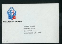 """FRANCE - ENVELOPPE ILLUSTRÉE """"SAPEURS POMPIERS VENERAY LES LAUNES"""" - Autres"""