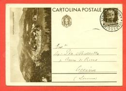 INTERI POSTALI I-CARTOLINE POSTALI-C90/15 -PORTOFINO - DA VIAREGGIO PER CECINA - 1900-44 Vittorio Emanuele III