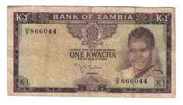 Zambia 1 Kwacha 1969 .J. - Zambia