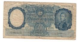 Argentina 500 Pesos 1955-1965 .J. - Argentina