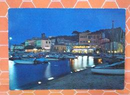 MARINA DI CAMPO ISOLA D'ELBA Notturno By Night CARTOLINA - Italia