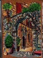 Peinture Sur Liège Inaltérable - Le Portail Aux Colombes - Cartes Postales