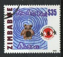 Zimbabwe 2002 $35.00 Teddy Bear Issue  #915 - Zimbabwe (1980-...)