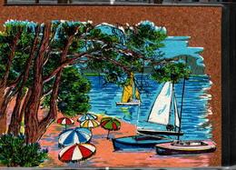 Peinture Sur Liège Inaltérable - La Petite Plage - Cartes Postales