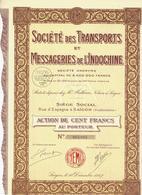 ENTREPRISES COLONIALES V.HISTORIQUE COMPLETE MESSAGERIES DE L INDOCHINE SAIGON 1927 B.E.V.SCANS - Transport
