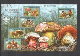 QQ669 2015 DU NIGER FLORE FAUNA MUSHROOMS & SCOUTS CHAMPIGNON ET SCOUTS 1SH MNH - Mushrooms