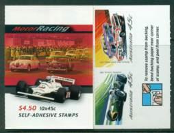 Australia 2002 $4.50 Motor Racing B243 Philatelic Booklet Lot26083 - 2000-09 Elizabeth II