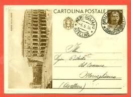 INTERI POSTALI I-CARTOLINE POSTALI-C90/19-ROMA VIA DEL MARE COLOSSEO-DA AVELLINO PER MERCOGLIANO - 1900-44 Victor Emmanuel III