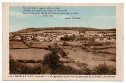 58 - Nièvre /  MONTSAUCHE  -- Vue Générale Prise Au Téléobjectif De La Route Des Settons. - Montsauche Les Settons