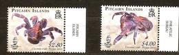 Pitcairn Islands 2009 Yvertn° 709-710 *** MNH Cote 14,50 Euro Faune Crabes Crabben - Timbres