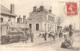 Dépt 14 - MORTEAUX-COULIBOEUF - Gare - Embranchement De Falaise - Locomotive, Train - écrite Par Émile RIHAUT, Taupier - Altri Comuni