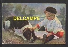 """DD / ILLUSTRATEUR NON SIGNÉ / ENFANT FAISANT LA TOILETTE DE SON CHIEN / CARTE """"OILETTE"""" DE TUCK & FILS / CIRCULÉE 1907 - Illustrators & Photographers"""