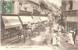 Dépt 14 - TROUVILLE-SUR-MER - La Rue Des Bains - LL N° 164 - Magasin De Vente De CARTES POSTALES - Trouville