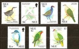 Niue 2013 Yvertn° 576-582 *** MNH Cote 27,50 Euro Faune Oiseaux Vogels Birds - Niue