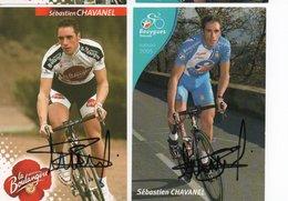 CYCLISME TOUR  DE  FRANCE  AUTOGRAPHE 2 CARTES   SEBASTIEN CHAVANEL - Cyclisme