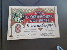 Pub Publicité Carte Représentant Chateauneuf Du Pape Clos De L'Oratoire Des Papes Amouroux Propriétaire - Publicités