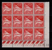Algerie - YV 79A N** Coin Daté De 12 Timbres - Unused Stamps