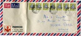 KENYA THEME MINERAUX LETTRE PAR AVION DEPART NAIROBI 29 AP 82 KENYA POUR LA FRANCE - Kenya (1963-...)
