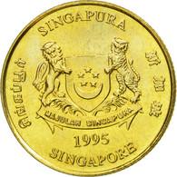 Monnaie, Singapour, 5 Cents, 1995, Singapore Mint, TTB+, Aluminum-Bronze, KM:99 - Singapour