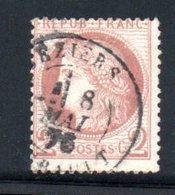 France / N 51 / 2 Centimes Rouge Brun  / Oblitéré / Côte 15 € - 1849-1850 Cérès