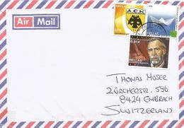 Greece 2012 Athens Football Club AEK Actor Vasilis Diamantopoulos Island Toursm Paper Ship Cover - Club Mitici
