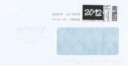 France 2012 Antigny New Year Meter ATM EMA Cover - 2010-... Geïllustreerde Frankeervignetten