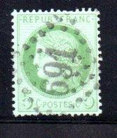 France / N 53  /  5 Centimes Vert / Oblitéré / Côte 10 € - 1871-1875 Ceres