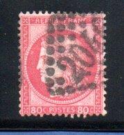 France / N 57  / 80 Centimes Rose / Oblitéré / Côte 15 € - 1871-1875 Ceres