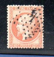France / N 23  / 40 Centimes Orange / Oblitéré / Côte 15 € - 1862 Napoleon III