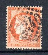 France / N 38 / 40 Centimes Orange / Oblitéré / Côte 12 € - 1871-1875 Cérès