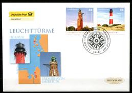 "First Day Cover Germany 2007 Mi.Nr.2612/13 Ersttagsbrief""Leuchttürme,Bremerhaven Oberfeuer U.Hörnum"" 1 FDC - Leuchttürme"
