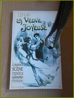 LIVRE AVANT SCENE OPERA LEHAR LA VEUVE JOYEUSE 1982 N° 45 Opérette  Musique - Musique