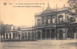 Gent Gand  La Façade Principale De La Gare Du Sud Et Le Monument Oswald De Kerckhove         I 4016 - Gent