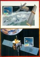 CM-Carte Maximum Card # 1991-Allemagne-Germany # Europa  CEPT #Espace,,Space,Weltraum # Satellite  Kopernikus ,ERS-1 (2) - Europa-CEPT