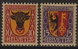 SUISSE PRO JUVENTUTE 1918:  Les Timbres J10-J11,  Neufs **, Forte Cote,  TTB - Pro Juventute