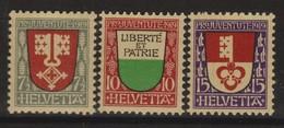 SUISSE PRO JUVENTUTE 1919:  Les Timbres J12-J14,  Neufs **, Forte Cote,  TTB - Pro Juventute