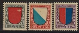 SUISSE PRO JUVENTUTE 1920:  Les Timbres J15-J17,  Neufs **, Forte Cote,  TTB - Pro Juventute