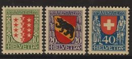 SUISSE PRO JUVENTUTE 1921:  Les Timbres J18-J20,  Neufs **, Forte Cote,  TT1 - Pro Juventute