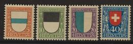 SUISSE PRO JUVENTUTE 1922:  Les Timbres J21-J24,  Neufs **, Forte Cote,  TTB - Pro Juventute