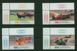 Bund 2031-2034  Bogenecke Eckrand Sport Rennsport Oben Links Tadellos Postfrisch - BRD