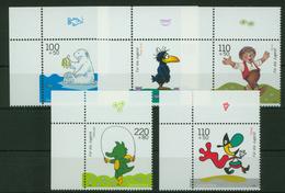 Bund 2055-2059 Bogenecke Eckrand Jugend Trickfilm Oben Links Tadellos Postfrisch - BRD
