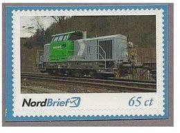 Privatpost - NordBrief -  Rangierlok Vossloh G6 In Rübeland - Eisenbahnen
