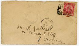 2. Burenkrieg Zensurbrief Auf Die Insel St. Helena 1901 - Kap Der Guten Hoffnung (1853-1904)