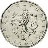 Monnaie, République Tchèque, 2 Koruny, 1994, TTB, Nickel Plated Steel, KM:9 - Repubblica Ceca